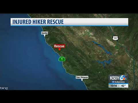 Crews airlift injured hiker near Big Sur