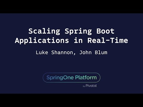 Scaling Spring Boot Applications in Real-Time - John Blum, Luke Shannon