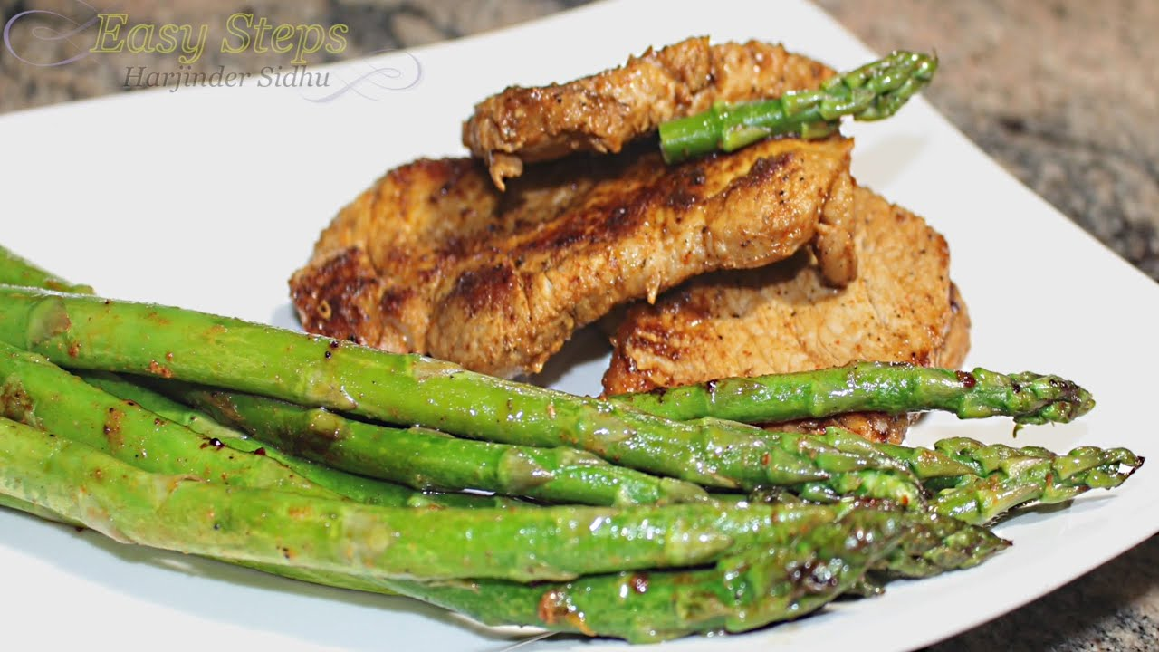 Pan Fry Pork Chops With Asparagus  How To Cook Pork Chops Pan Fried