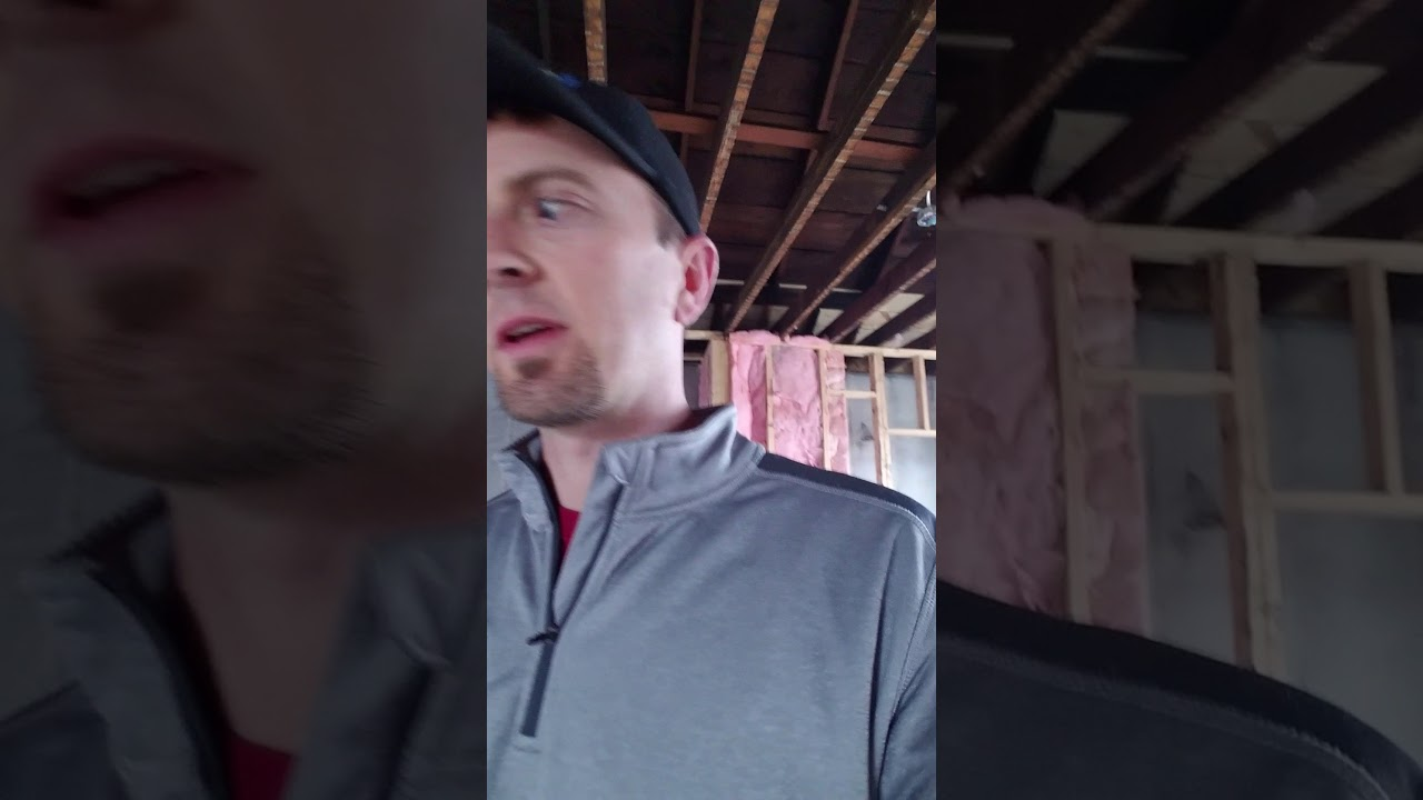 Insulation Inspection during house remodel near UofL's campus