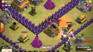 Clash of Clans Clan War Attacks Episode 1: We Come Face-to-Face with a Near-Max TH9 in Clan Wars...