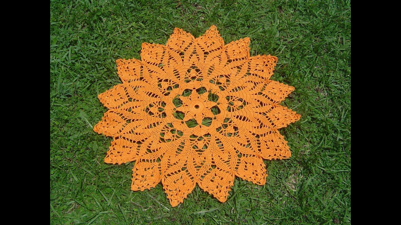 Como tejer centro de mesa a crochet paso a paso 1 4 youtube for Centro de mesa a crochet
