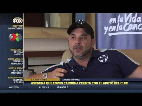 """""""Él sabe (Cardona) que tiene el respaldo de Monterrey"""": Antonio Mohamed"""