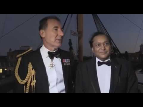 Admiral Sir George Zambellas host the British Sikh Association Dinner on-board HMS Victory