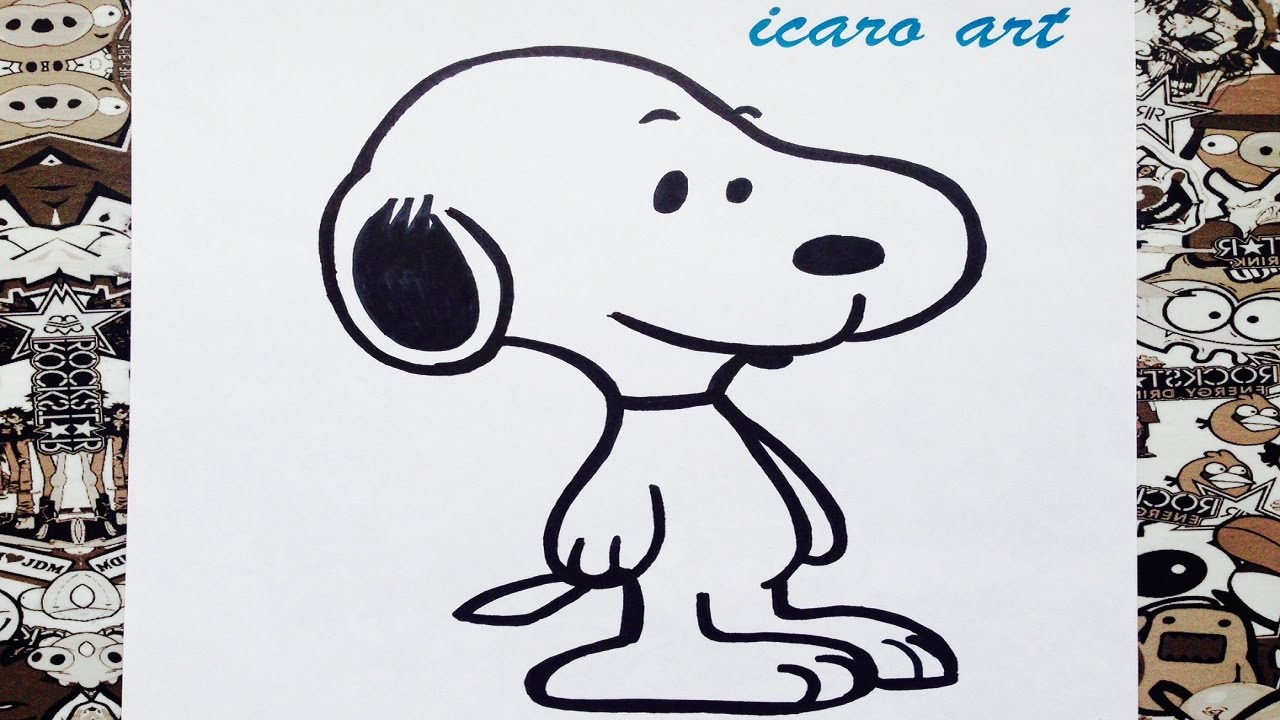 Como dibujar a snoopy | how to draw snoopy - YouTube