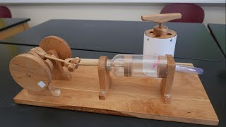 Physics of toys- Reciprocating air engine // Homemade Science with Bruce Yeany