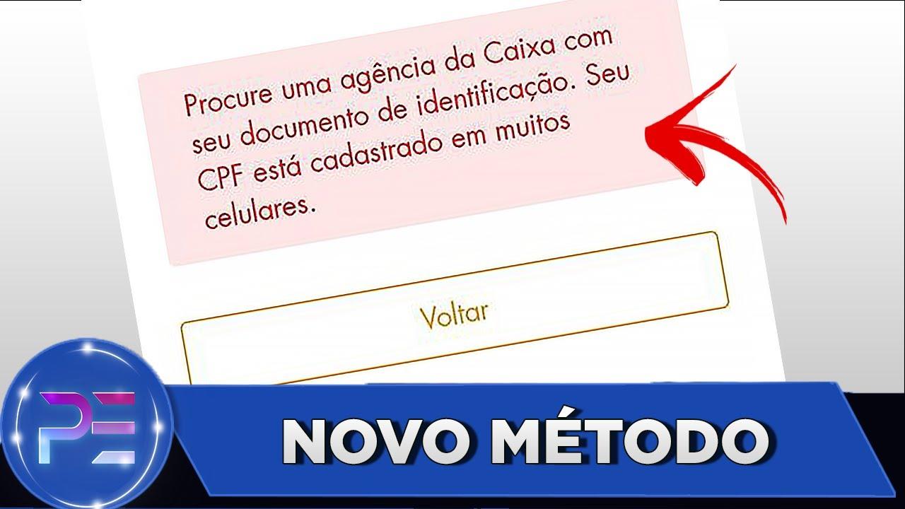CAIXA TEM - CPF cadastrado em muitos celulares Fácil  NOVO MÉTODO (RESOLVIDO)