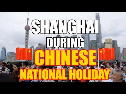 SHANGHAI - HUGE CROWDS AT THE BUND DURING NATIONAL WEEK (GOLDEN WEEK) [China Au Pair Vlog #31]