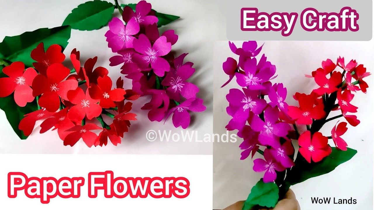 Simple and Beautiful Paper Flowers   Paper Craft   Diy Flower   Home Decor