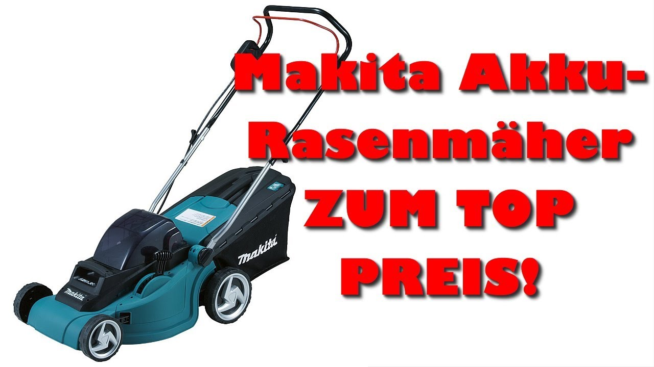 makita akku rasenm her test akku rasenm her zum g nstigen preis youtube. Black Bedroom Furniture Sets. Home Design Ideas