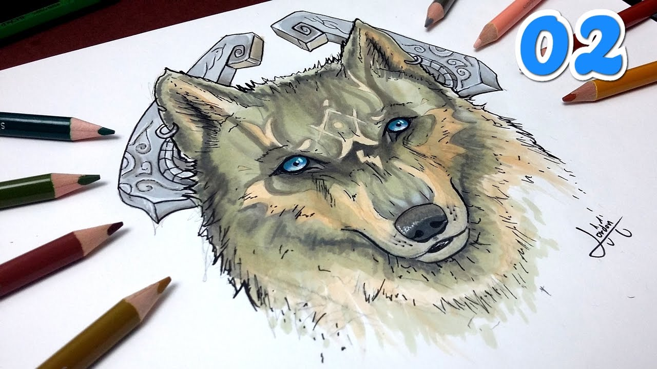 Comment dessiner loup goron tuto 2 zelda youtube - Dessin de loup simple ...