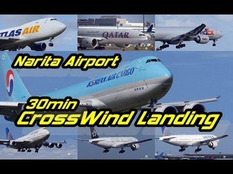 【Full HD】Extream!!30min Heavy Crosswind Landing's @Narita NRT