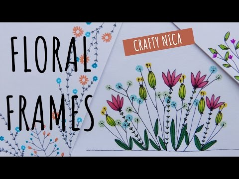FLORAL BORDERS AND FRAMES (2). Borders for cards, school projects & bullet journal ( Flower doodles)