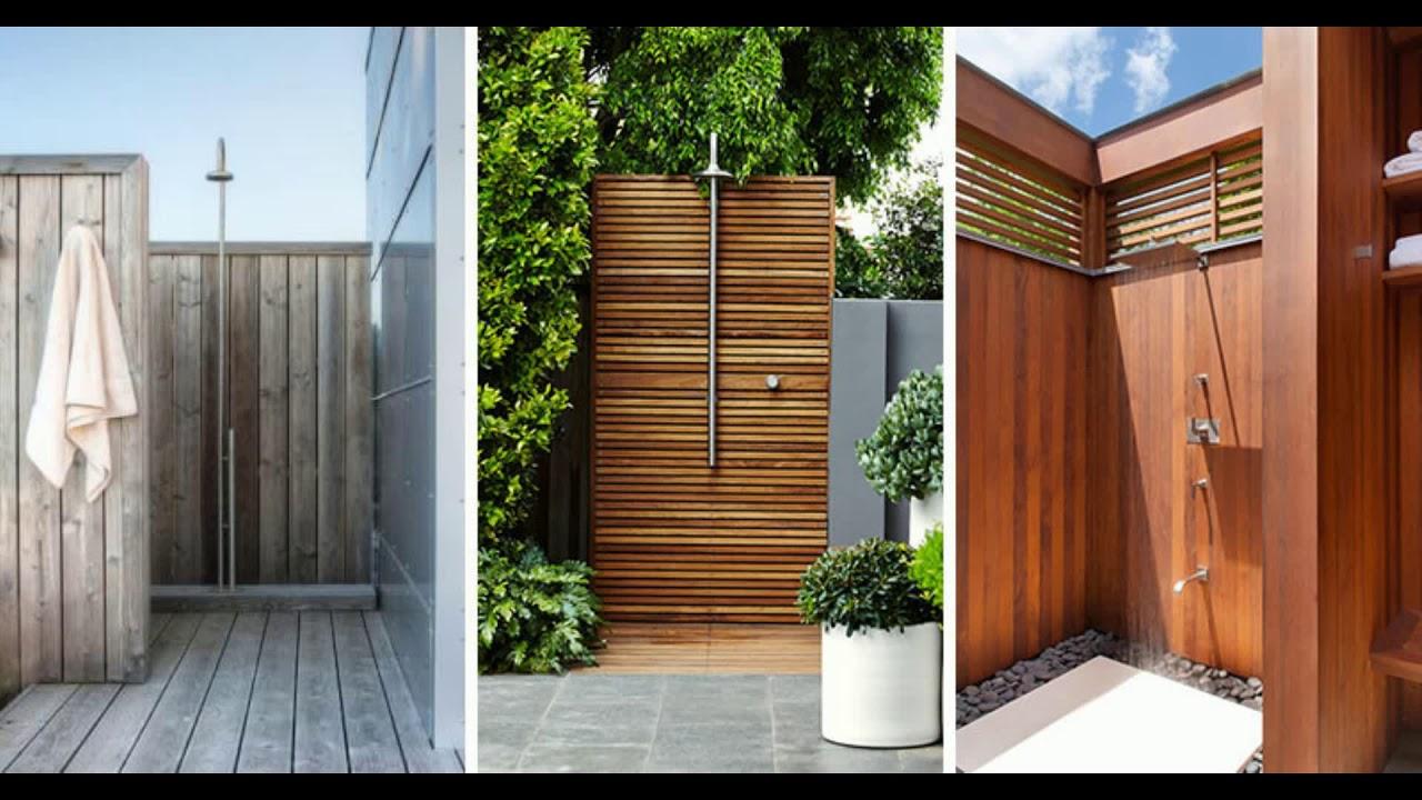 TOP 10 BEST Outdoor Shower Design Ideas  DIY Cheap Building Shower Kits Plans Enclosure 2018