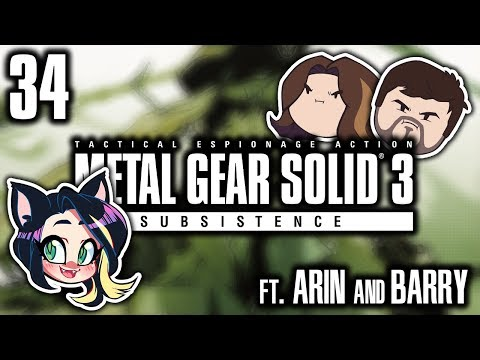 ►Metal Gear Solid 3: Subsistence►OUCH!►With Egoraptor & Barry►PART 34  Kitty Kat Gaming