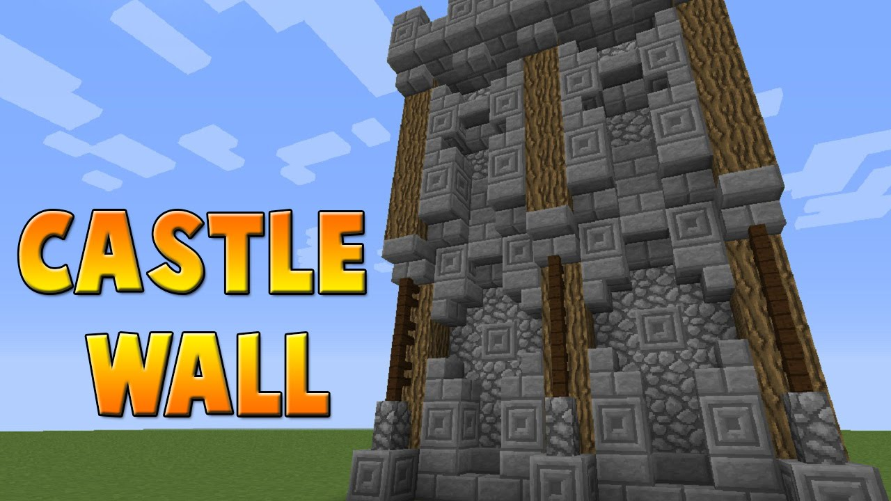 Minecraft Medieval Castle Wall Tutorial Youtube