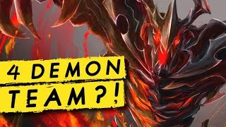 4 DEMON TEAM?! Demon Hunter Synergy! | Dota Auto Chess