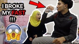 """I """"broke"""" my fast prank in Ramadan Ft. little sister."""