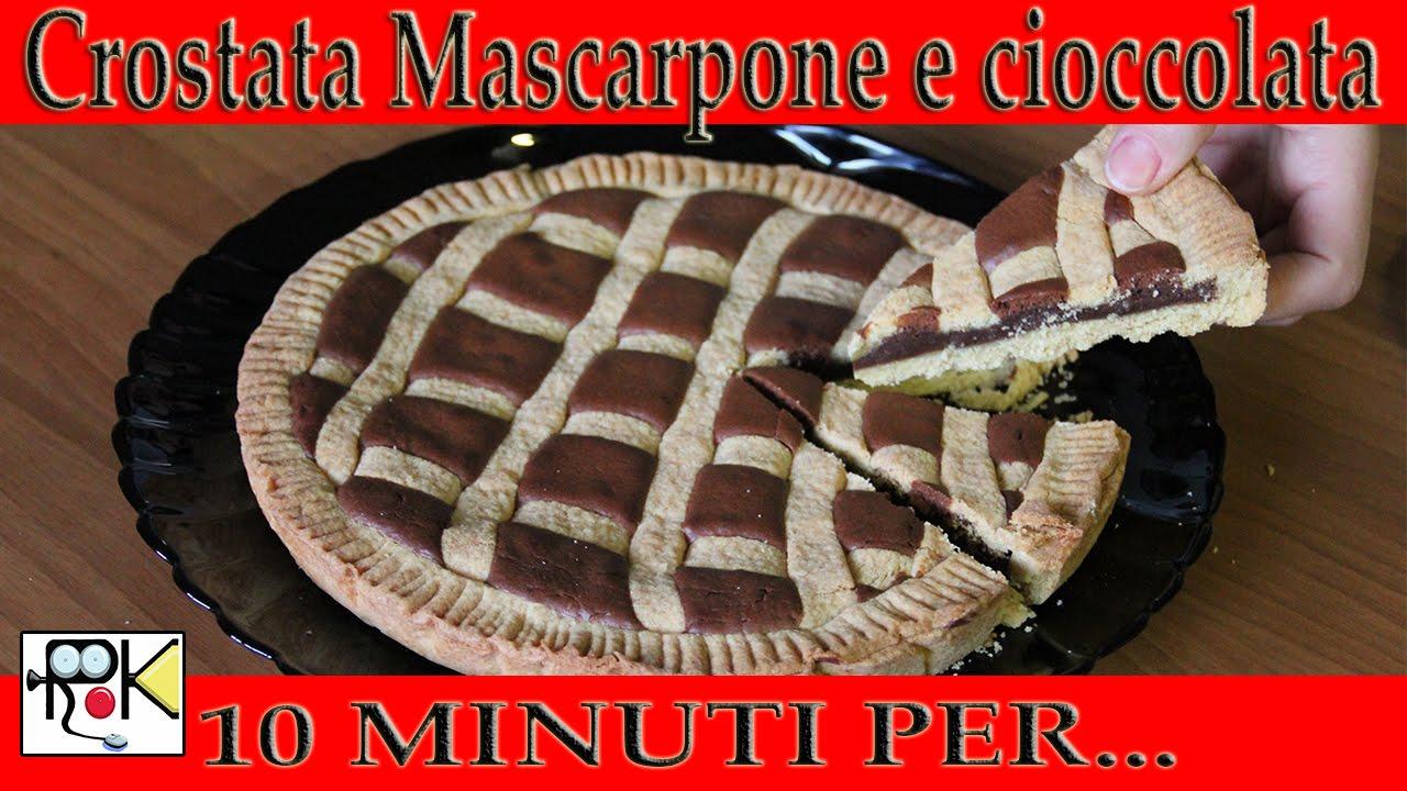 10 minuti per cucinare crostata mascarpone e cioccolata