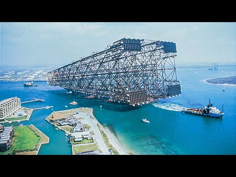 Towing Largest Oil Rig in History