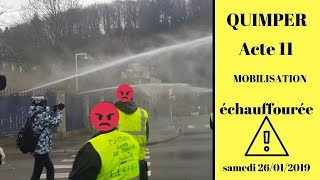 Affrontement gilets jaunes Quimper 26/01/2019