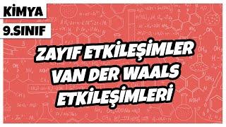 9. Sınıf Kimya - Zayıf Etkileşimler (Van Der Waals Etkileşimleri)  2021