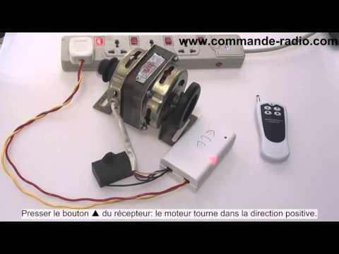 kit commande de moteur ca 220v avec t l commande sans fil 4boutons longue distance 500m youtube. Black Bedroom Furniture Sets. Home Design Ideas