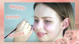 окрашивание бровей гель-краской Elan 03 medium brown  Eyebrow colouring Elan 03 medium brown