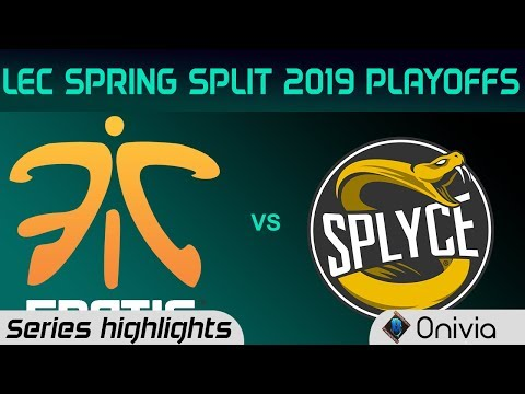 FNC vs SPY Highlights All Games LEC Spring 2019 Playoffs Fnatic vs Splyce LEC Highlights By Onivia