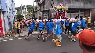 大島郡徳之島町山集落の豊年祭.