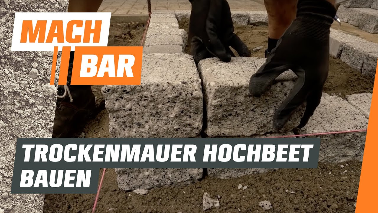 hochbeet bauen aus trockenmauer obi youtube. Black Bedroom Furniture Sets. Home Design Ideas