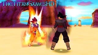 Dragon Ball Z Shin Budokai 2 Mods - Goku Absalon Ssj God Vs Black Goku