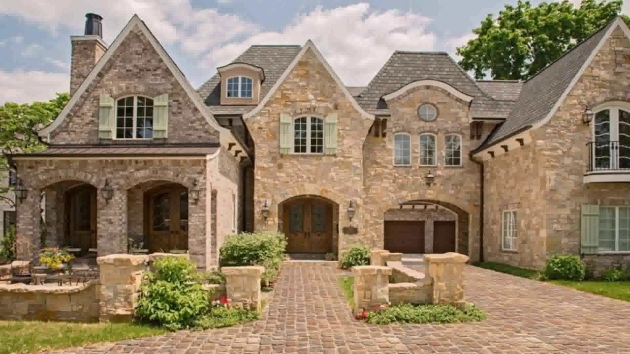 English style stone house plans youtube for Stone house floor plans