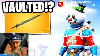 EPIC REMOVED the Fortnite INFINITY SWORD! (Fortnite: Battle Royale Infinity Blade Vaulted)