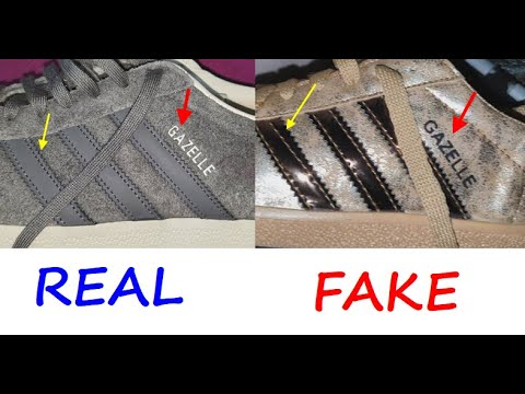 Adidas Gazelle real vs fake review. How to spot counterfeit Adidas gazelle trainers