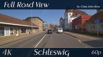 Schleswig, Germany: Gottorfer Damm, Königstraße, Stadtfeld, Mühlenredder, St. Jürgener Straße - 4K