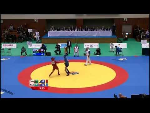 Arman OSPANOV (KAZ) vs Niyazmyrat SHAKHMURADOV (TKM) - World Sambo Championship 2014