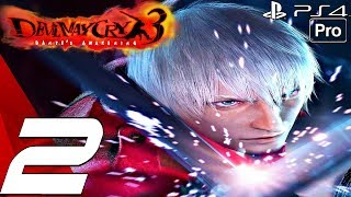 Devil May Cry 3 HD - Gameplay Walkthrough Part 2 - Agni & Rudra Boss Fight (Remaster) PS4 PRO