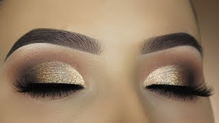 Smokey Bronze Half Cut Crease Makeup Tutorial - DESIXKATY Collection