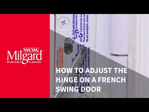 How to Adjust the Hinge on a French Swing Patio Door