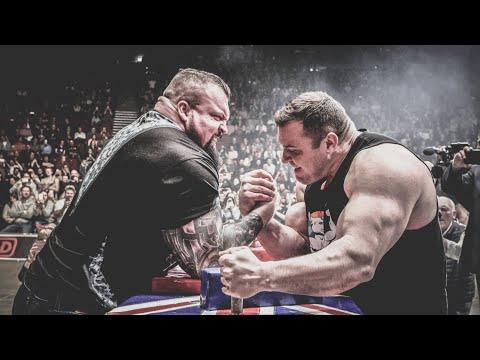 "Download Vytautas Lalas vs Eddie ""The Beast"" Hall || Arm Wrestling War"