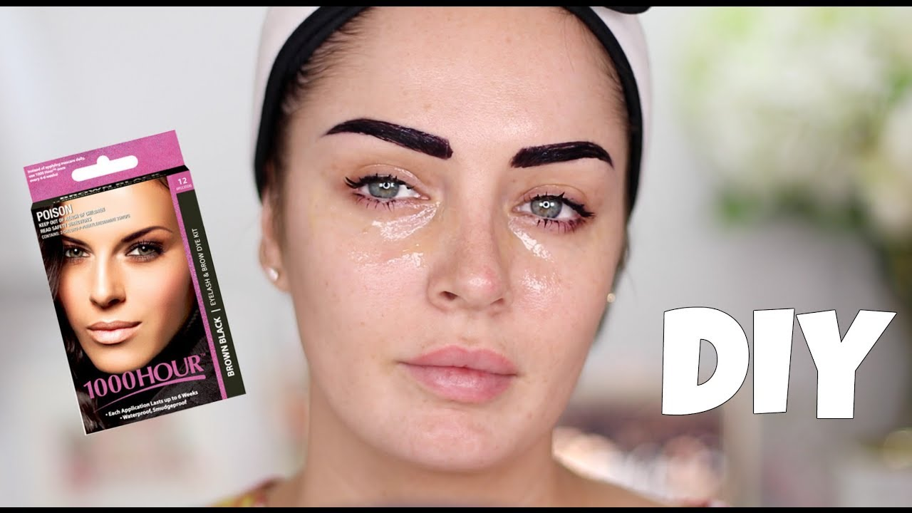 TINTING MY OWN LASHES & BROWS - DIY Eyelash & Eyebrow Dye Review