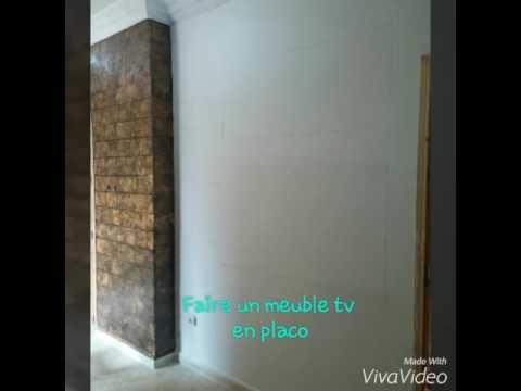 Fabriquer Un Meuble Tv  Placo Plate Bfk   Youtube