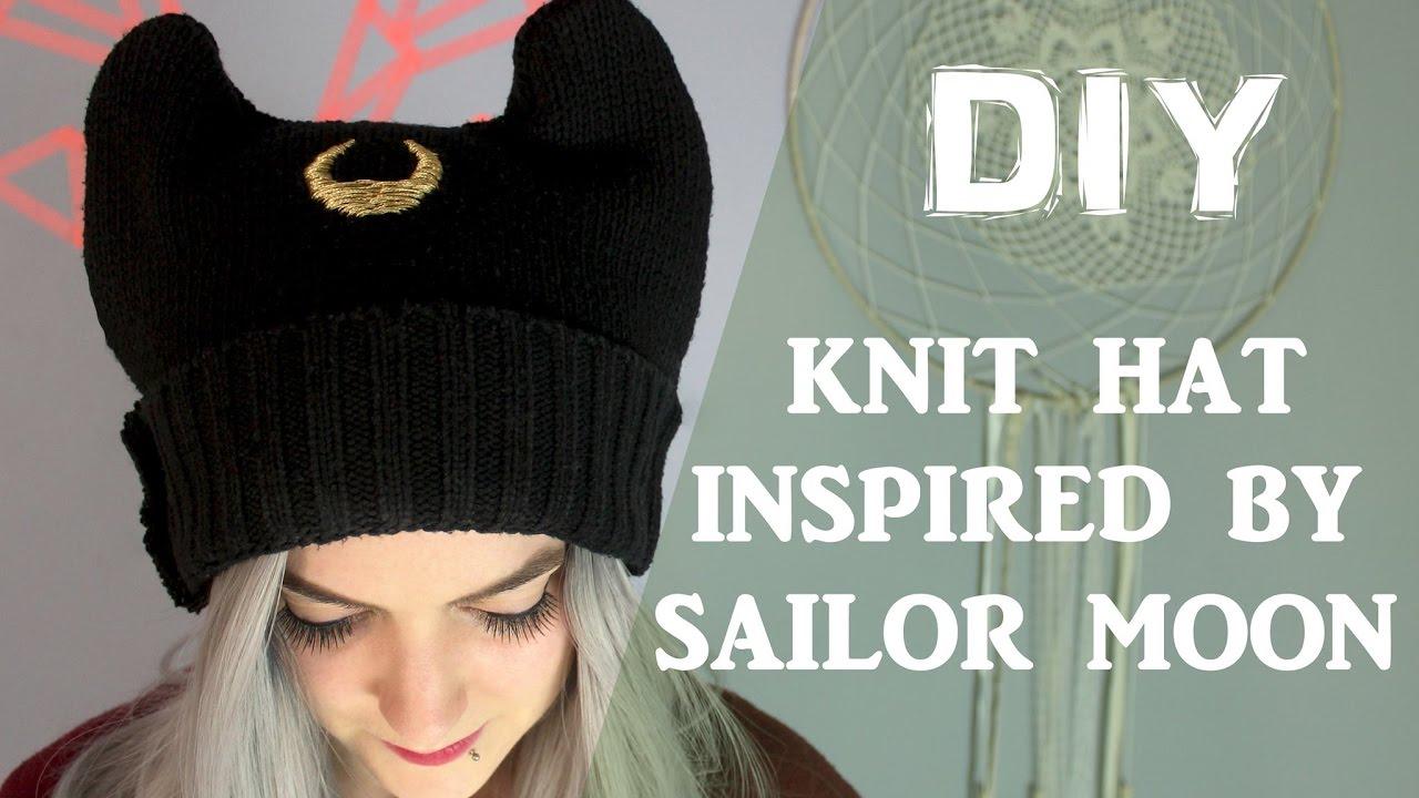 96f48977c9a DIY Beanie Inspired by Luna Sailor Moon   DIY Bonnet de Luna - YouTube