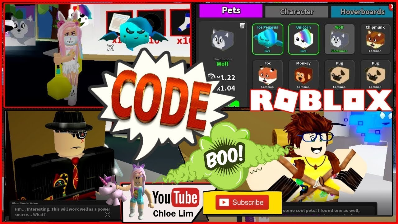 Roblox Ghost Simulator Gameplay! Code for Ice Pegasus Pet! QUEST and