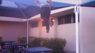 Jeff Falls Flat on his Back Off Of a Roof