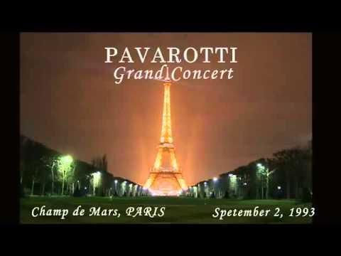 Pavarotti   Grand Concert Champ de Mars Paris complet   full concert