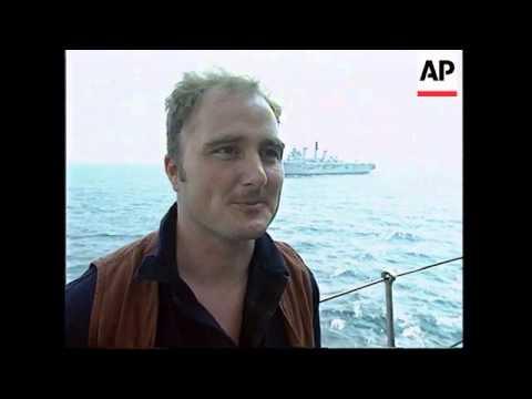 PERSIAN GULF: ABOARD BRITISH CARRIER HMS ILLUSTRIOUS