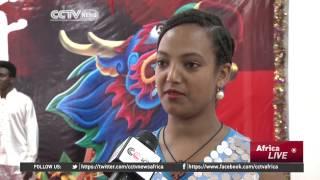 Ethiopians celebrate Chinese Dragon boat festival