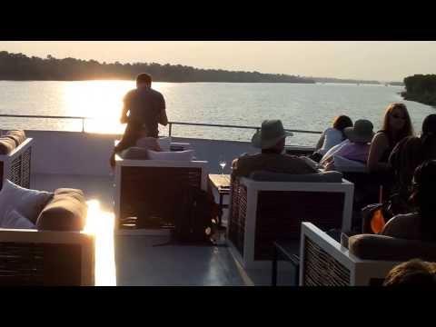 Aboard the Zambezi Explorer Luxury Cruise Boat near Victoria Falls, Zimbabwe